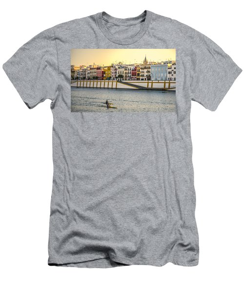 Seville - Sunset In Calle Betis Men's T-Shirt (Athletic Fit)