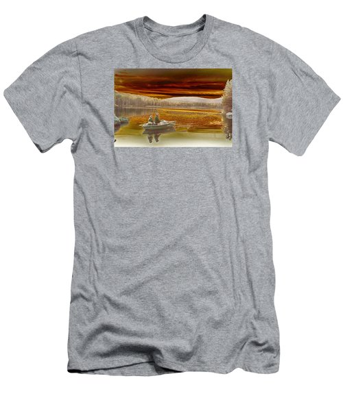 Men's T-Shirt (Slim Fit) featuring the photograph Seyon Sunset by Paul Miller