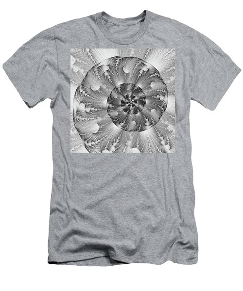 Shades Of Silver Men's T-Shirt (Slim Fit) by Lea Wiggins