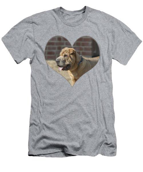 Shar Pei Heart Men's T-Shirt (Athletic Fit)