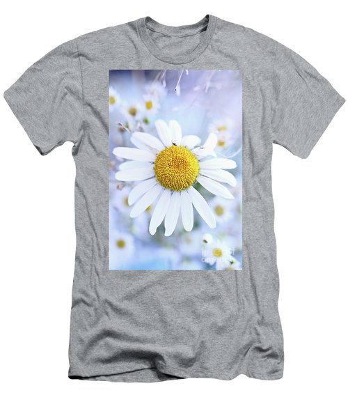 Men's T-Shirt (Slim Fit) featuring the photograph Shasta Daisy by Stephanie Frey