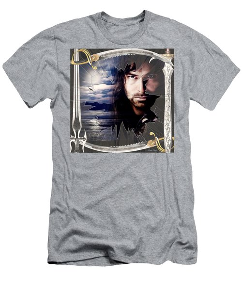 Shattered Kili With Swords Men's T-Shirt (Slim Fit) by Kathy Kelly