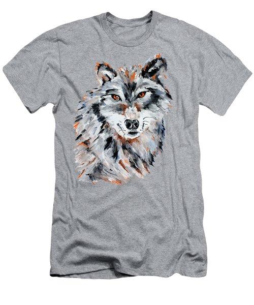 She Wolf - Animal Art By Valentina Miletic Men's T-Shirt (Slim Fit) by Valentina Miletic