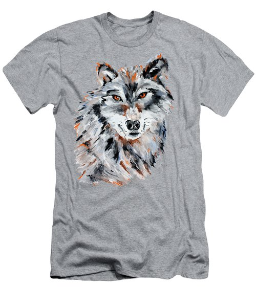 She Wolf - Animal Art By Valentina Miletic Men's T-Shirt (Athletic Fit)