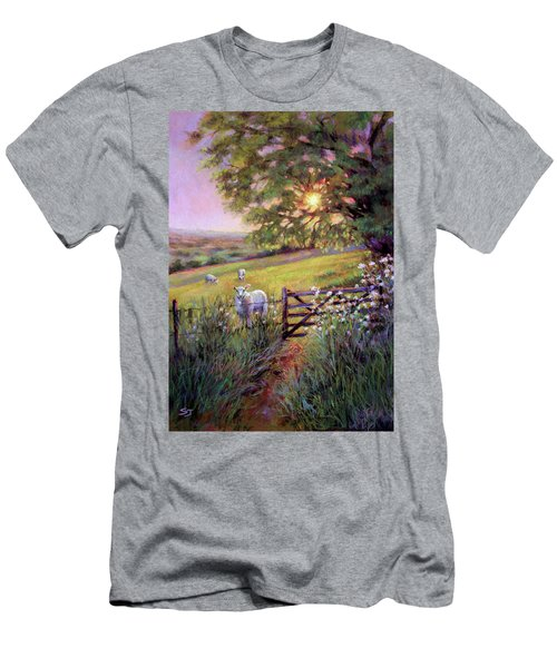 Sheep At Sunset Men's T-Shirt (Athletic Fit)