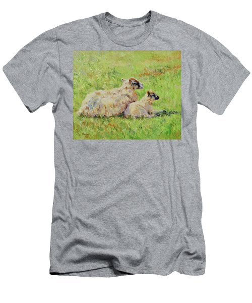 Sheep In The Spring Time,la Vie Est Belle Men's T-Shirt (Athletic Fit)