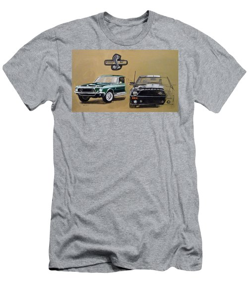 Men's T-Shirt (Athletic Fit) featuring the painting Shelby 40th Anniversary by Richard Le Page