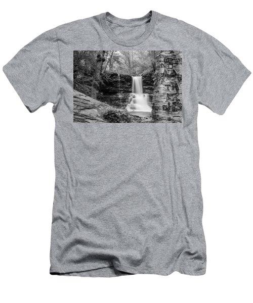 Men's T-Shirt (Slim Fit) featuring the photograph Sheldon Reynolds Falls - 8581 by G L Sarti