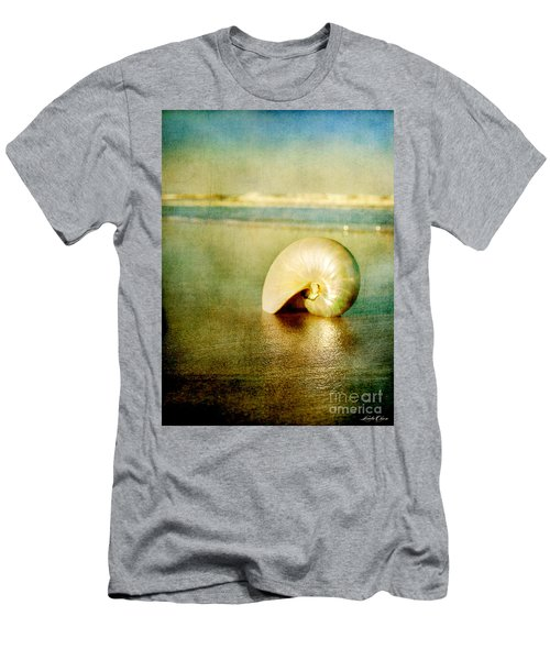 Shell In Sand Men's T-Shirt (Athletic Fit)