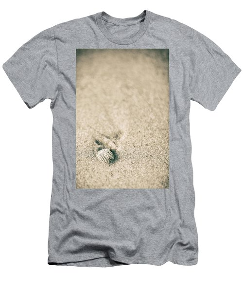 Men's T-Shirt (Slim Fit) featuring the photograph Shell On Beach Alabama  by John McGraw