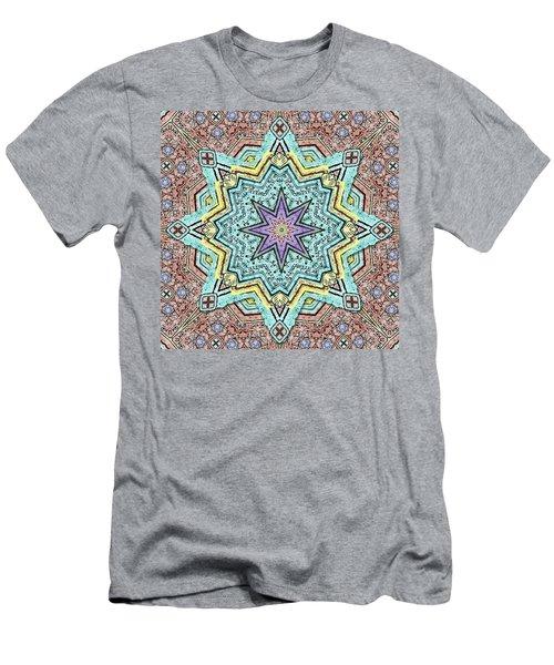 Shell Star Mandala Men's T-Shirt (Slim Fit) by Deborah Smith