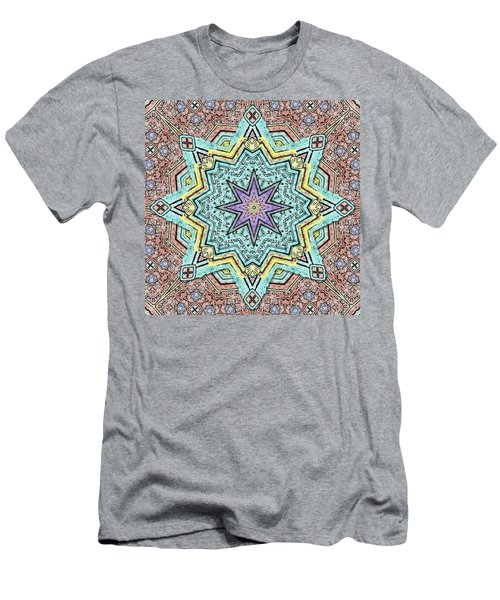 Shell Star Mandala Men's T-Shirt (Athletic Fit)