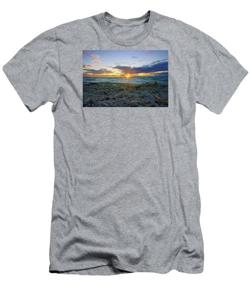 Shells On The Beach At Sunset Men's T-Shirt (Slim Fit) by Robb Stan