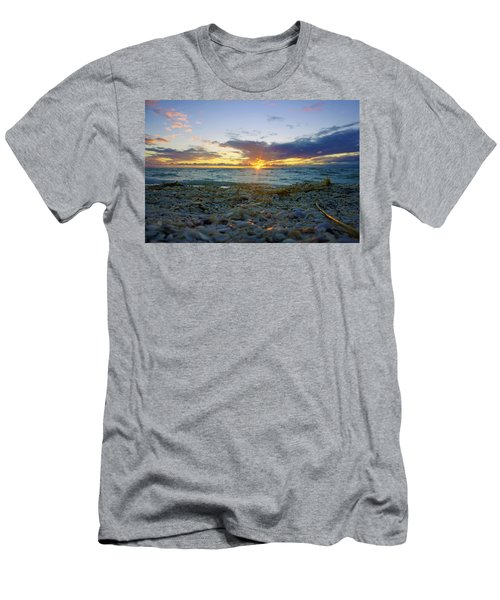 Shells On The Beach At Sunset Men's T-Shirt (Athletic Fit)