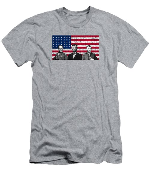 Sherman - Lincoln - Grant Men's T-Shirt (Slim Fit) by War Is Hell Store