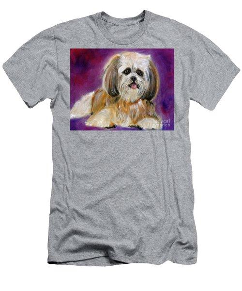 Shih-tzu Puppy Men's T-Shirt (Slim Fit) by Jenny Lee