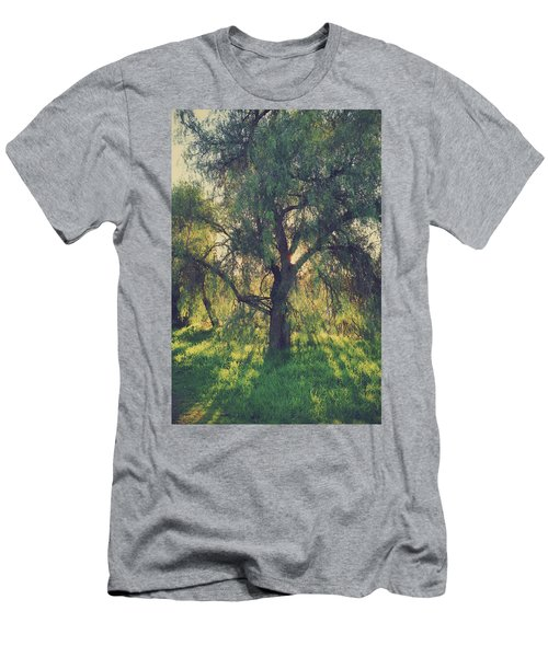 Men's T-Shirt (Slim Fit) featuring the photograph Shine Your Light by Laurie Search