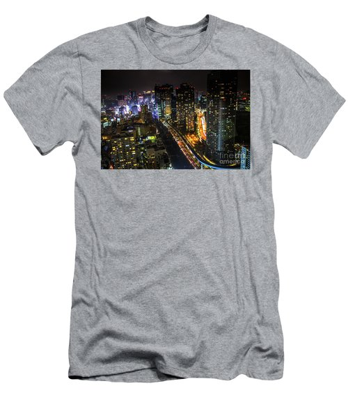 Shiodome Skyline Tokyo Men's T-Shirt (Athletic Fit)