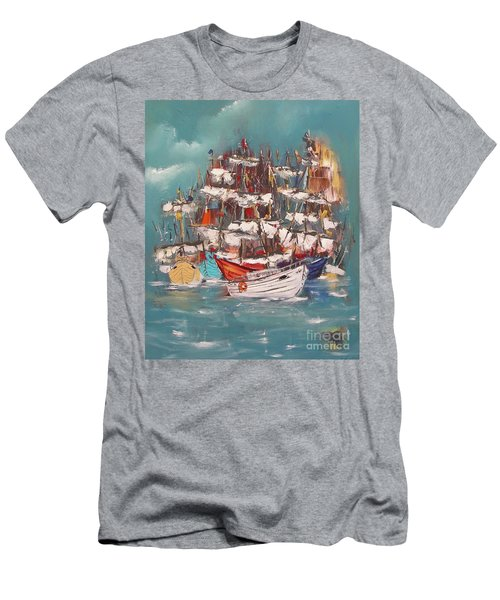 Ship Harbor Men's T-Shirt (Athletic Fit)