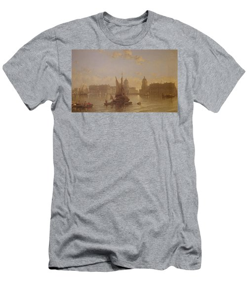 Shipping On The Thames At Greenwich Men's T-Shirt (Athletic Fit)