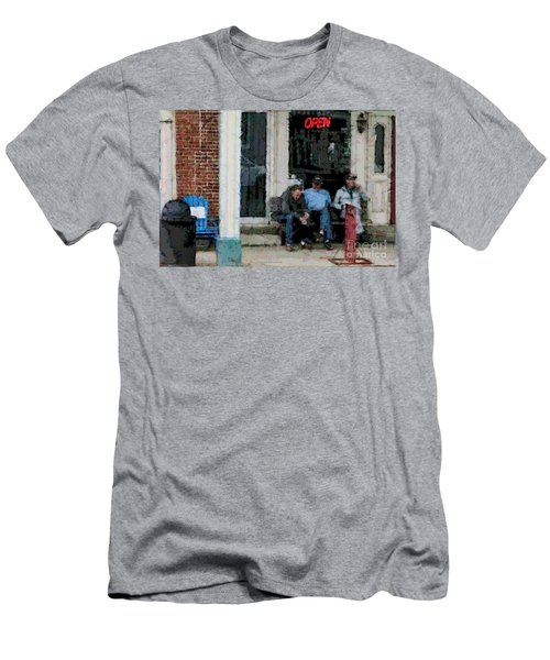Shooting The Breeze Men's T-Shirt (Athletic Fit)
