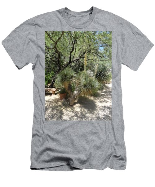 Shooting Up Cactus Garden Men's T-Shirt (Athletic Fit)
