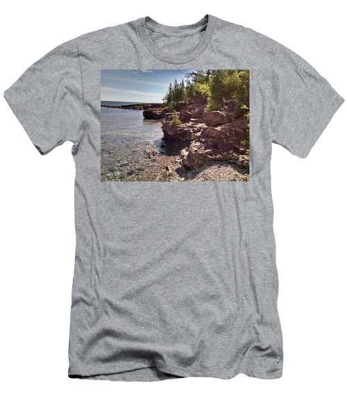 Shoreline In The Upper Michigan Men's T-Shirt (Athletic Fit)