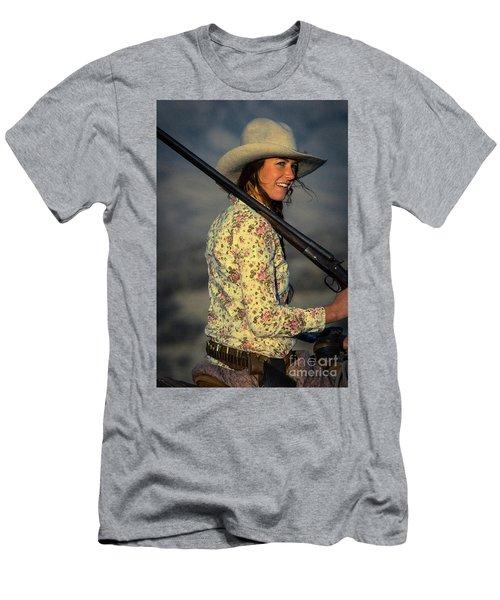 Shotgun Annie Western Art By Kaylyn Franks Men's T-Shirt (Athletic Fit)