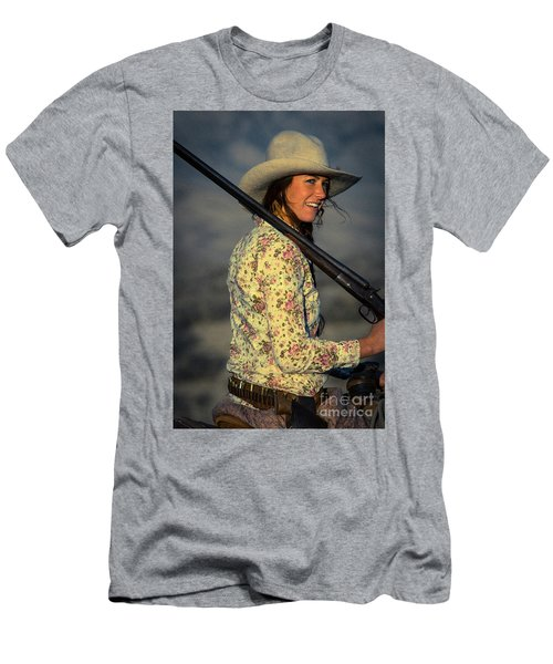 Shotgun Annie Western Art By Kaylyn Franks Men's T-Shirt (Athletic Fit)