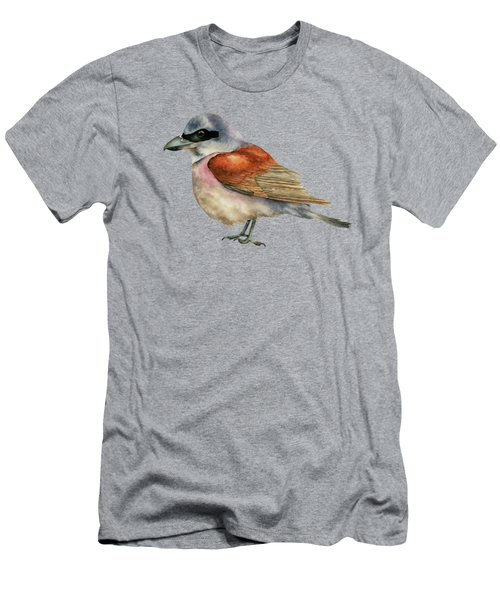 Shrike Bird Watercolor Painting Men's T-Shirt (Athletic Fit)