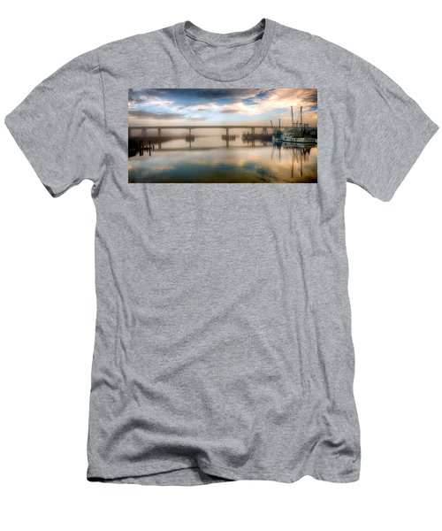 Shrimp Boats At Sunrise Men's T-Shirt (Athletic Fit)