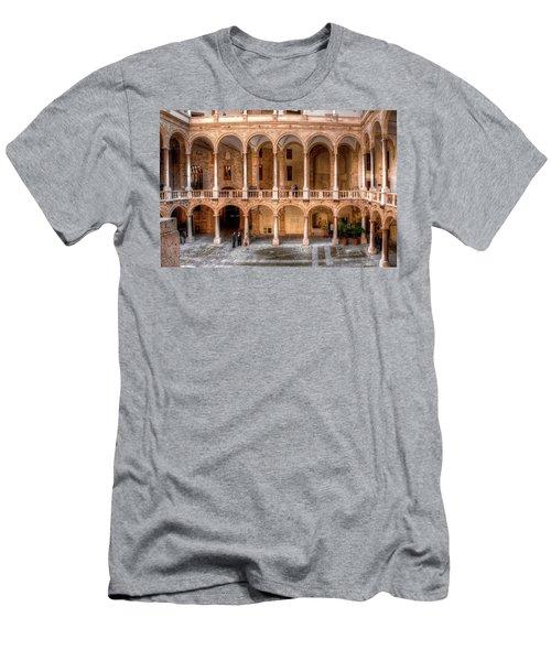 Sicilian Parliament Bldg Men's T-Shirt (Slim Fit) by Patrick Boening