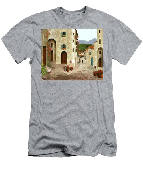 side streets of Tuscany Men's T-Shirt (Slim Fit) by Larry Cirigliano