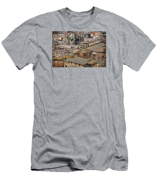 Siena Colored Roofs And Walls In Aerial View Men's T-Shirt (Athletic Fit)