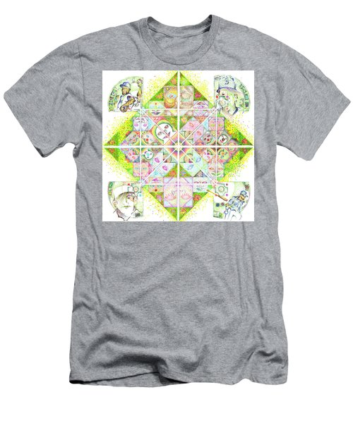 Sierpinski's Baseball Diamond Men's T-Shirt (Athletic Fit)