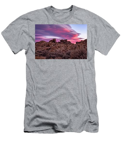 Men's T-Shirt (Athletic Fit) featuring the photograph Sierra Clouds At Sunset by John Hight