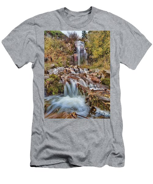 Sierra Waterfall Men's T-Shirt (Athletic Fit)