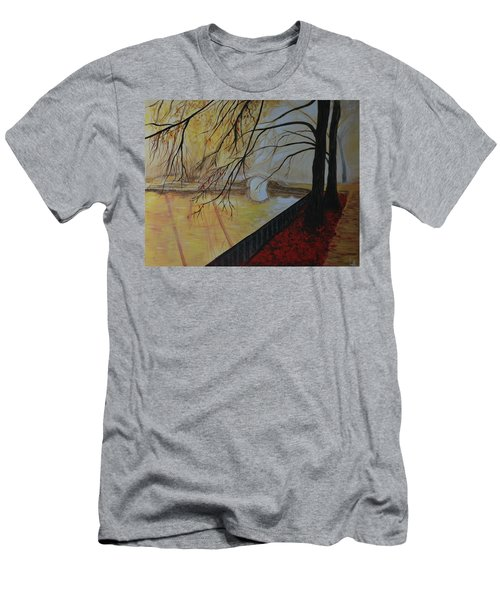 Men's T-Shirt (Slim Fit) featuring the painting Silence by Leslie Allen