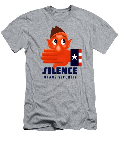 Silence Means Security Men's T-Shirt (Athletic Fit)