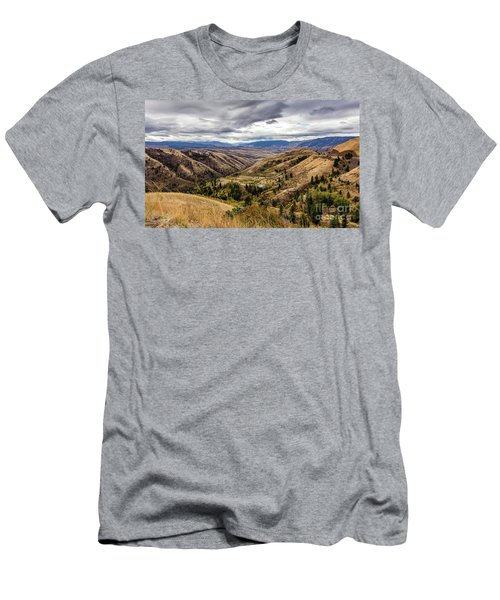 Silence Of Whitebird Canyon Idaho Journey Landscape Photography By Kaylyn Franks  Men's T-Shirt (Athletic Fit)