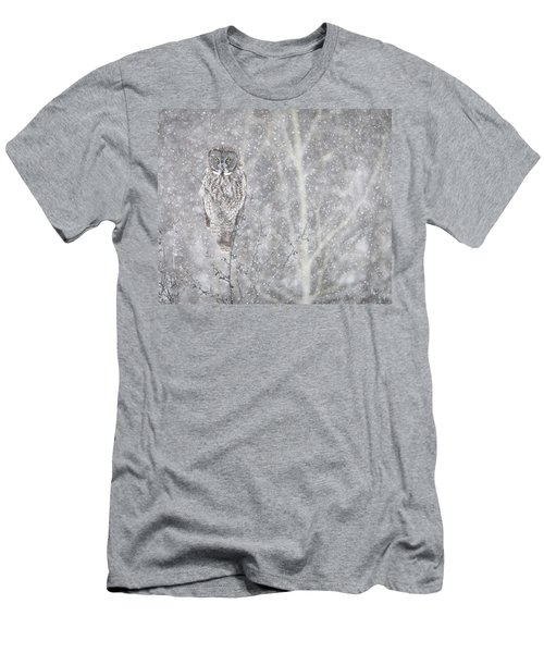 Men's T-Shirt (Slim Fit) featuring the photograph Silent Snowfall Landscape by Everet Regal