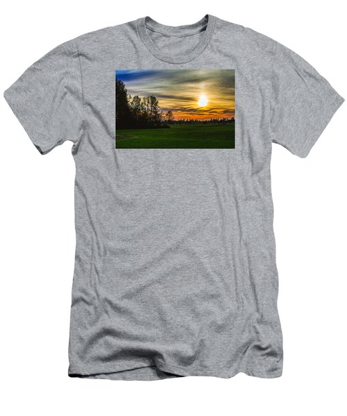 Silhouette And Sunset Men's T-Shirt (Athletic Fit)