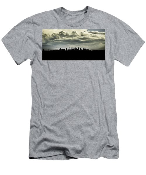 Men's T-Shirt (Athletic Fit) featuring the photograph Silhouette Of Sydney by Chris Cousins