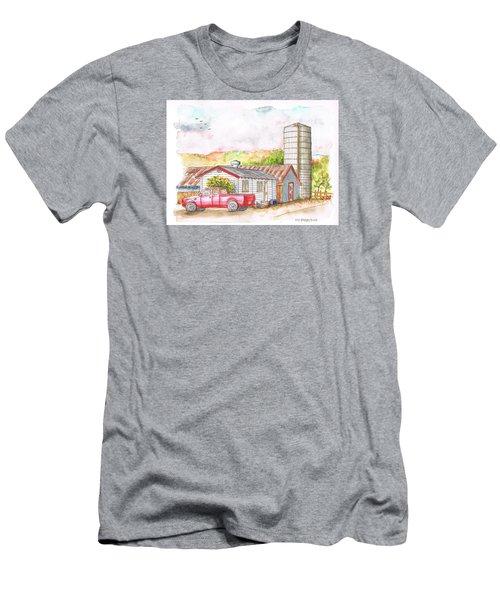 Silo In Los Olivos, California Men's T-Shirt (Slim Fit) by Carlos G Groppa
