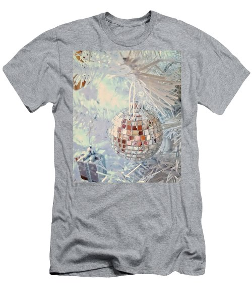 Silver And White Christmas Men's T-Shirt (Athletic Fit)