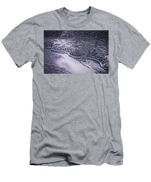 Silver Brook In Winter Men's T-Shirt (Athletic Fit)