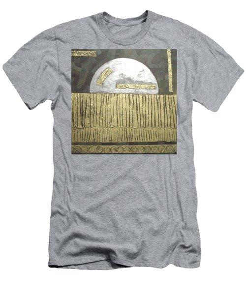 Men's T-Shirt (Slim Fit) featuring the painting Silver Moon by Bernard Goodman
