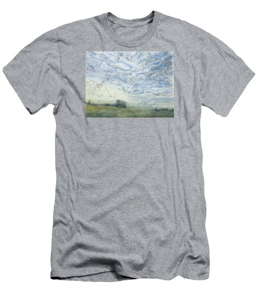 Silver Sky Men's T-Shirt (Athletic Fit)