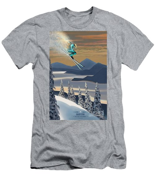 Silver Star Ski Poster Men's T-Shirt (Athletic Fit)