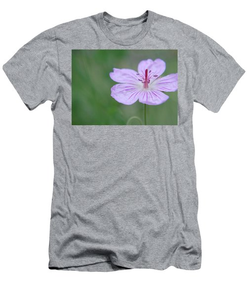 Simplicity Of A Flower Men's T-Shirt (Athletic Fit)